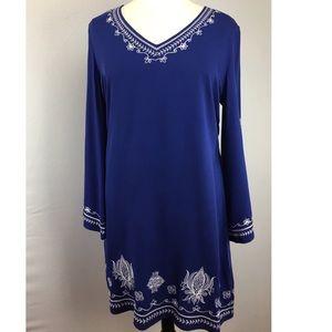 NWOT Ariat XXL Artful Embroidery 100%rayon Dress